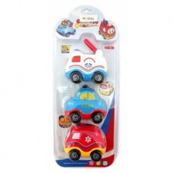 Mini Cartoon Cars - Fire Police Ambulance