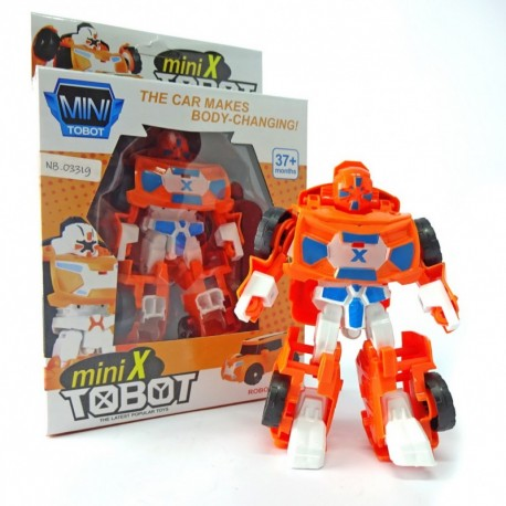 Mini X Tobot - Orange Robot Car - Mainan robot