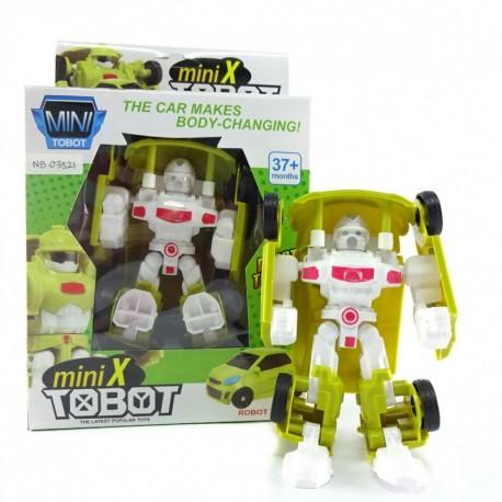 Mini X Tobot - Green Robot Car - Mainan robot