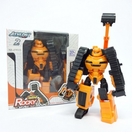Atlon 2 Mini Rocky - Orange Excavator - Mainan robot
