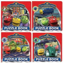 Chuggington Puzzle Book Set - 4 Volume 3 - 6
