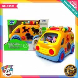 Hola - Shape Sorting Bus - Mainan Bus Belajar Bentuk
