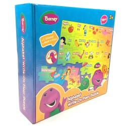 Barney Alphabet Write-On Floor Puzzle