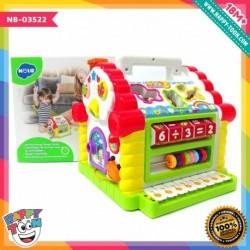 Hola - Activity House Shape Sorter - Mainan Rumah Belajar Bentuk