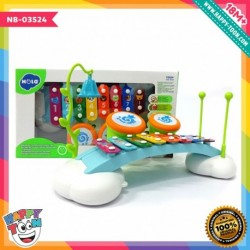 Hola - Ring My Chimes Infant Music Set - Mainan Xylophone dan Drum