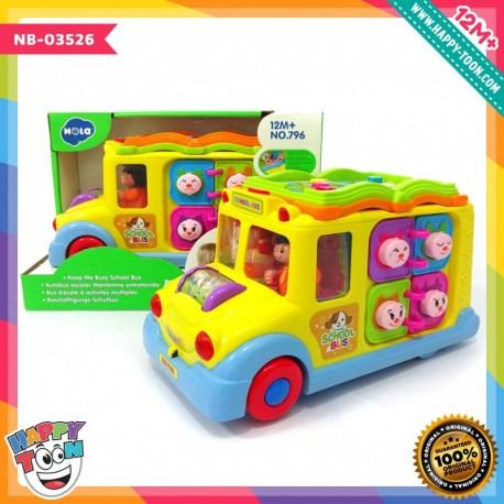 Hola - Keep Me Busy School Bus - Mainan Bus Aktivitas