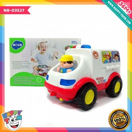 Hola - Little Learning Ambulance Activity Toy - Mainan Ambulan