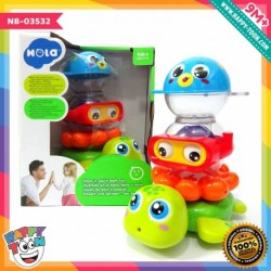 Hola - Stack 'n Squirt Bath Fun - Mainan bertumpuk Bayi