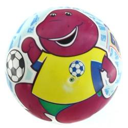 "Bola PVC Barney 9"" - Play Soccer"