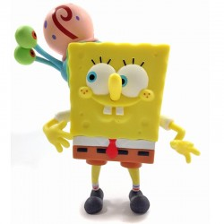 SpongeBob Playing with Gary - Figurine