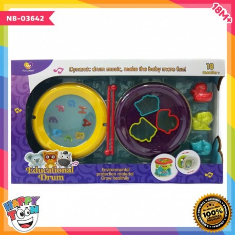 Baby Educational Drum - Mainan drum anak