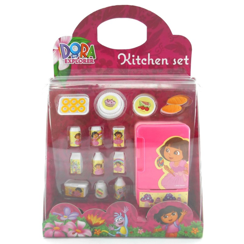 Dora kitchen set collection refrigerator happy toon for Kitchen set anak