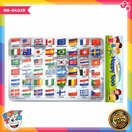 Puzzle Regular - Flag of the World - Bendera Dunia
