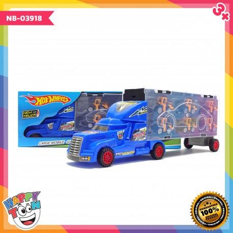 Mainan Hotwheels Truck Container Pembawa Mobil Konstruksi NB-03918