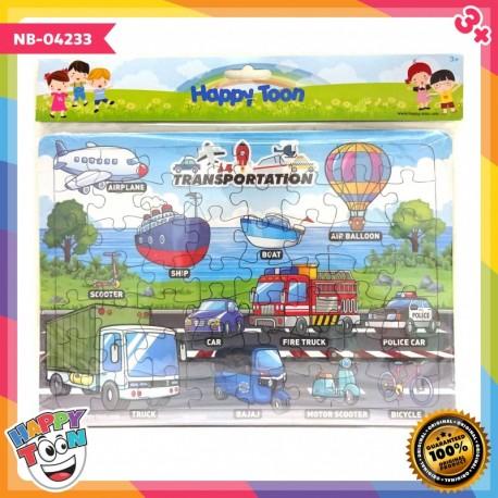 Puzzle Large - Transportation - Puzzle Alat transportasi - NB-04233