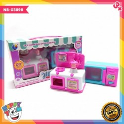 Mainan Dapur Oven Kompor Microwave Kitchen Set - NB-03898