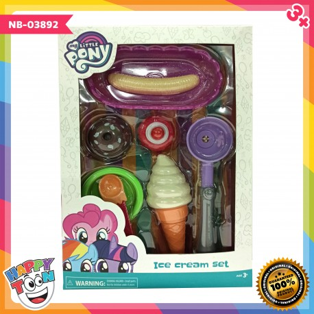 My Little Pony Ice Cream Set Mainan Es Krim Scoop - NB-03892