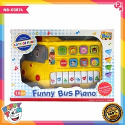 Funny Bus Piano Baby Toy Mainan Piano Alat Musik Bus - NB-03874