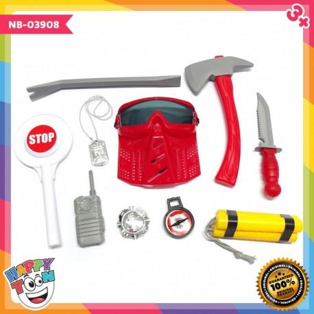 Fire Fighter Play Set Mainan Petugas Pemadam Kebakaran - NB-03908