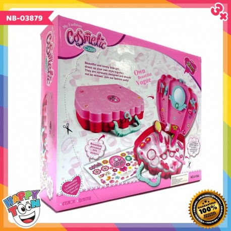 Cosmetic Play Set Mainan Make Up Meja Rias Koper - NB-03879