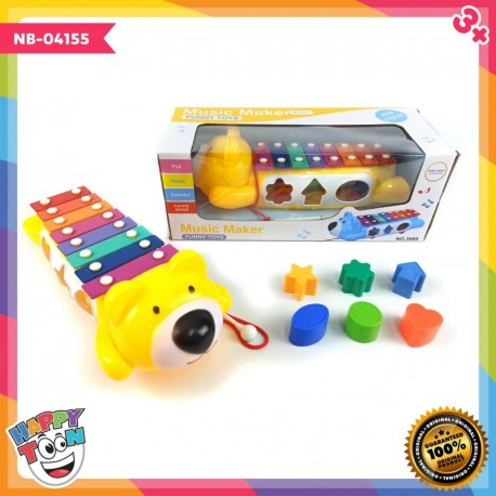 Bear Music Maker Funny Toys Xylophone Shape - NB-04155