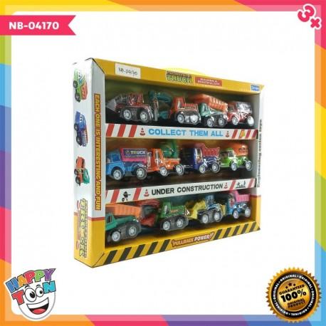 12 pcs Contruction Truck Mobil Truk Konstruksi - NB-04170
