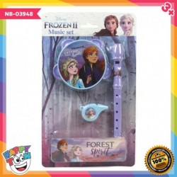 Frozen Music Set Flute Tambourine Whistle - NB-03948