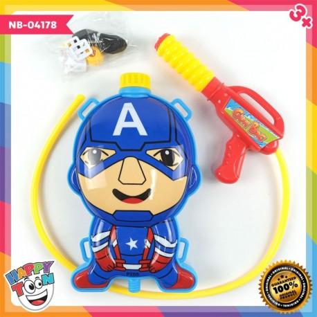 Captain America Water Gun Mainan Tembakan Air - NB-04178