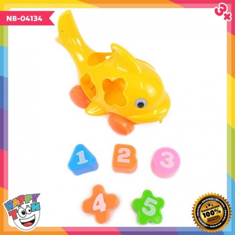 Fish Car Learning Shape Mainan Ikan Belajar Bentuk NB-04134