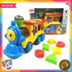 Happy Train Shape Learning Mainan Kereta dengan Edukasi Shape NB-04120