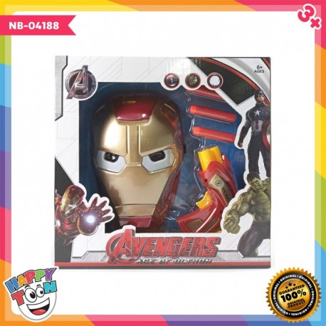 Topeng dan Pistol Iron Man - NB-04188