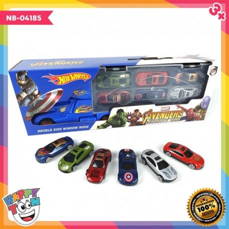 Avengers 6 Alloy Car Diecast - NB-04185