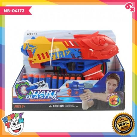 Dart Blaster Pistol Mirip Nerf Rapid Fire - NB-04172