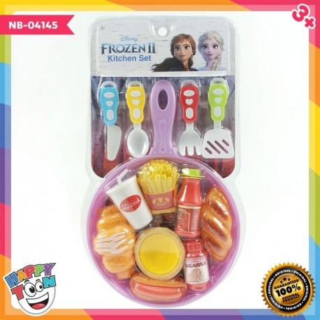 Frozen II Kitchen Set Fast Food Teflon - NB-04145