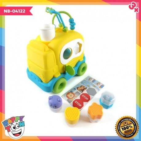 Baby School Education Bus Shape Toy - NB-04122