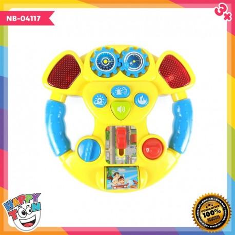 Music Steering Wheel Setir Mobil Baby Toy - NB-04117
