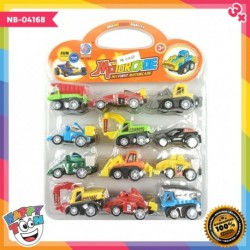12 pcs Motorcade Construction Car - Mainan Truk Alat Berat - NB-04168
