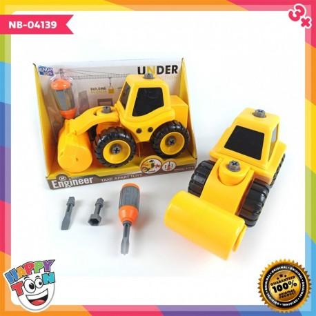 Contruction Truk Compactor - Mainan Truk Alat Berat Perata Tanah - NB-04139