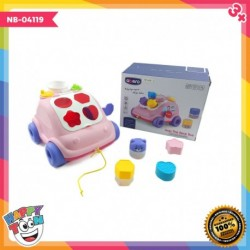 Hop The Bear Bus - Mainan Bus Baby Belajar Shape - NB-04119