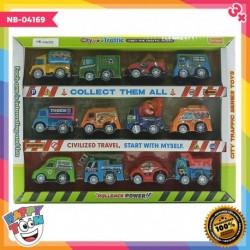 12 City Trafiic Car Collection - Mainan mobil mobilan - NB-04169