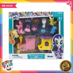 My Little Pony Train Toy - Mainan Kereta Api Kuda Pony - NB-04121