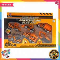 6 pcs Die Cast Metal Construction Set Mainan Truk Konstruksi NB-04319