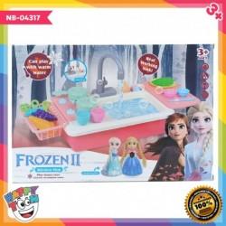 Frozen 2 Kitchen Sink Toy Mainan Wastafel Cuci Piring NB-04317