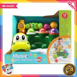 Baby Toy Music Gator Hammer Table Mainan Palu Bola NB-04307