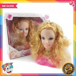 Barbie Angel Set Hair Style Toy Make Up Set Mainan Tata Rias NB-04318
