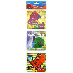 Puzzle 3 in 1 Barney Play Camping - Mainan Puzzle Barney