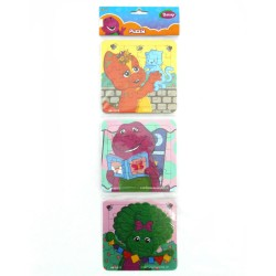 Puzzle 3 in 1 Barney Creativity - Mainan Puzzle Barney