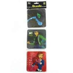 Puzzle 3 in 1 Ben 10 Alien Force - Mainan Puzzle Ben 10