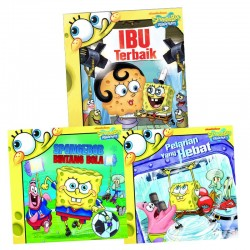 Paket Story Book SpongeBob: SpongeBob Bintang Bola, Pelarian Yang Hebat, Ibu Terbaik