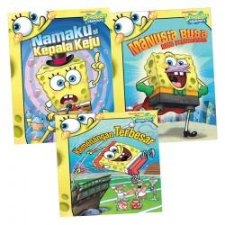 Paket Story Book SpongeBob: Namaku si Kepala Keju, Manusia Busa Sang Penyelamat, Kemenangan Terbesar